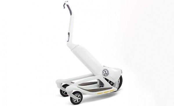 大众将推可折叠三轮电动踏板车