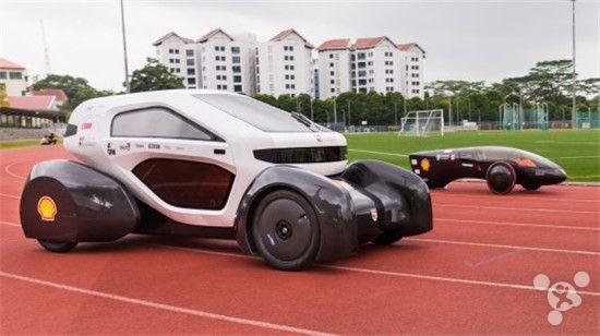 亚洲首辆3D打印概念车,新加坡学生造