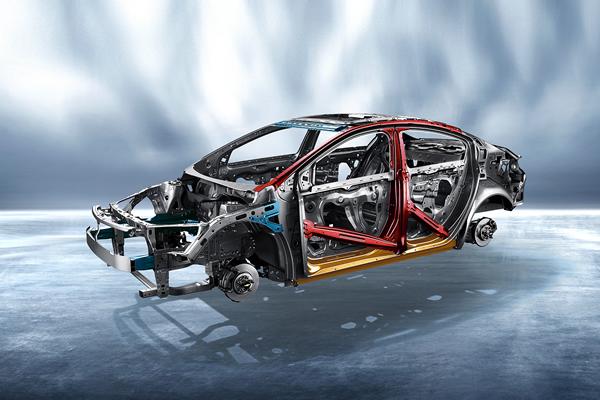 全新科鲁兹车身结构效果图