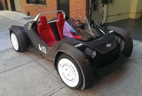 """第一辆能真正上路的3D打印汽车终于不再""""萌萌哒"""""""