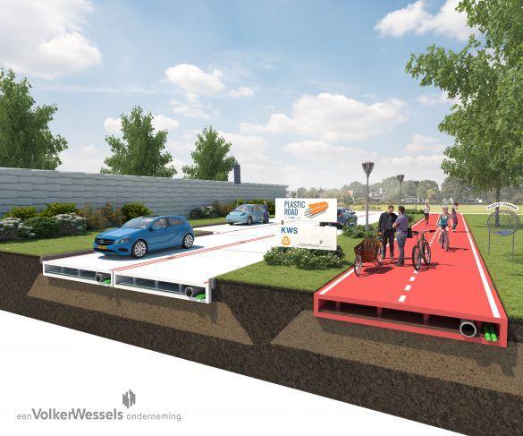 外媒:可回收塑胶有望打造未来公路