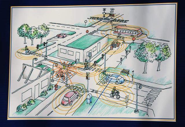 密歇根大学模拟城市交通测试车联网