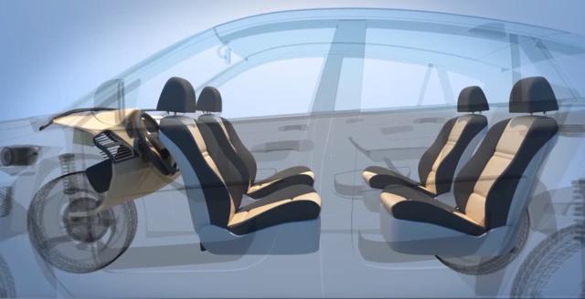 福特自动驾驶汽车专利:座椅可重组为客厅样