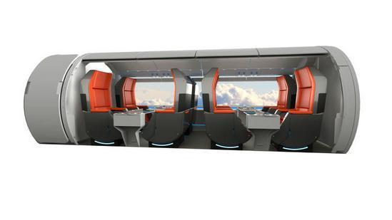 超级高铁列车细节:比飞机头等舱还豪华